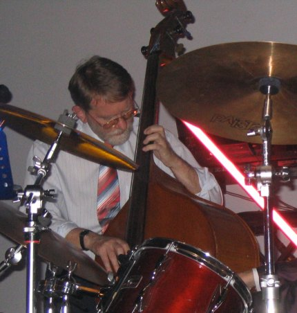 Ernst at double bass